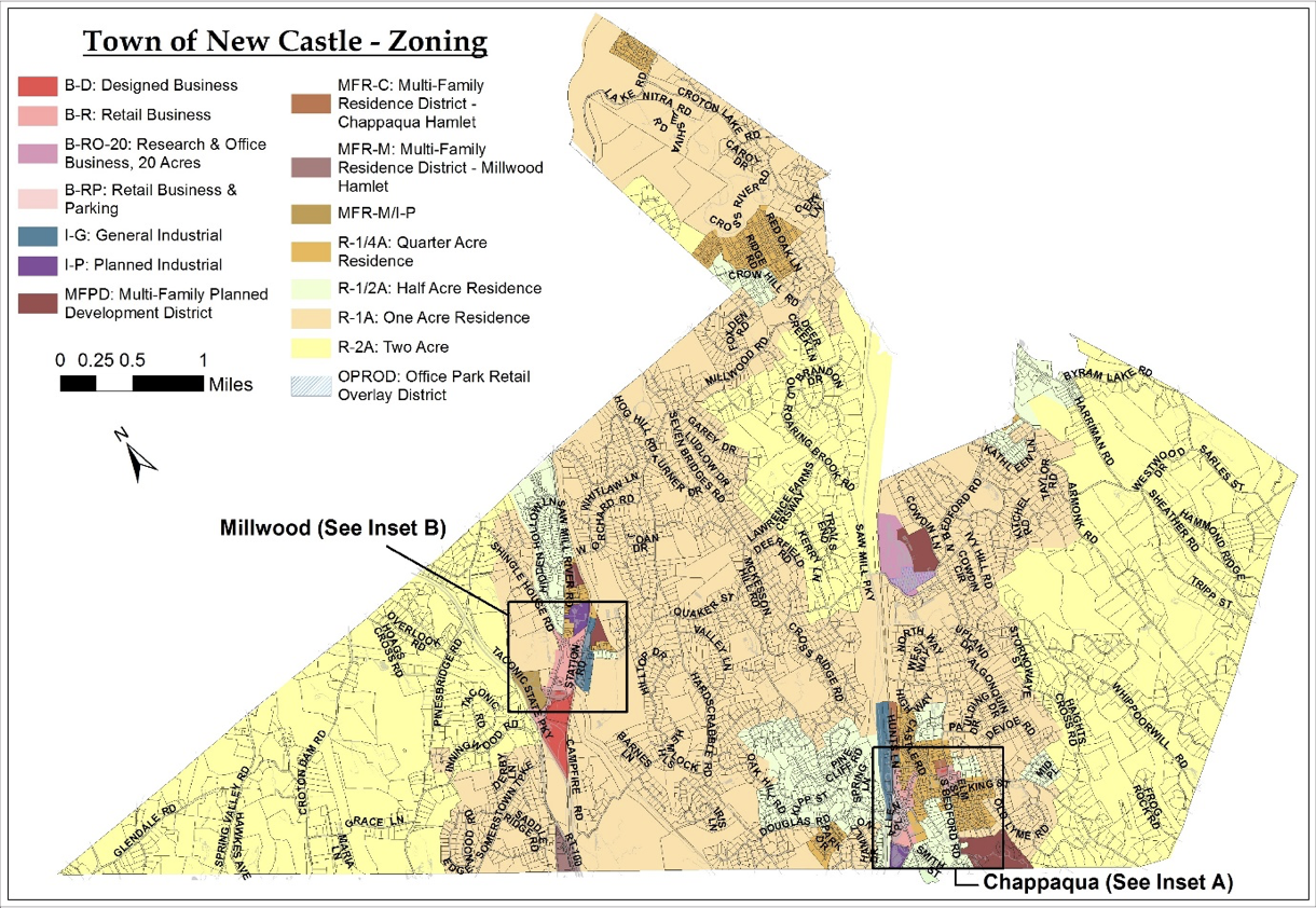 Town of New Castle Zoning Map